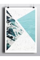 Toffie Toffie Abstract Ocean 18x24 Art Print