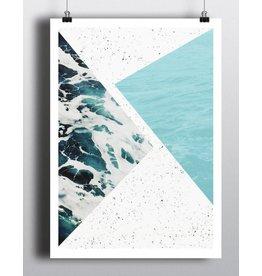 Toffie Océan Abstrait 18x24
