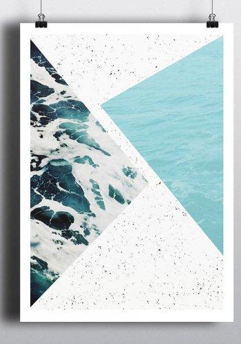 Abstract Ocean 18x24