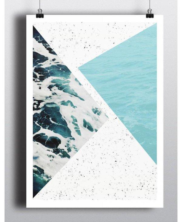 Toffie Abstract Ocean 18x24 Art Print