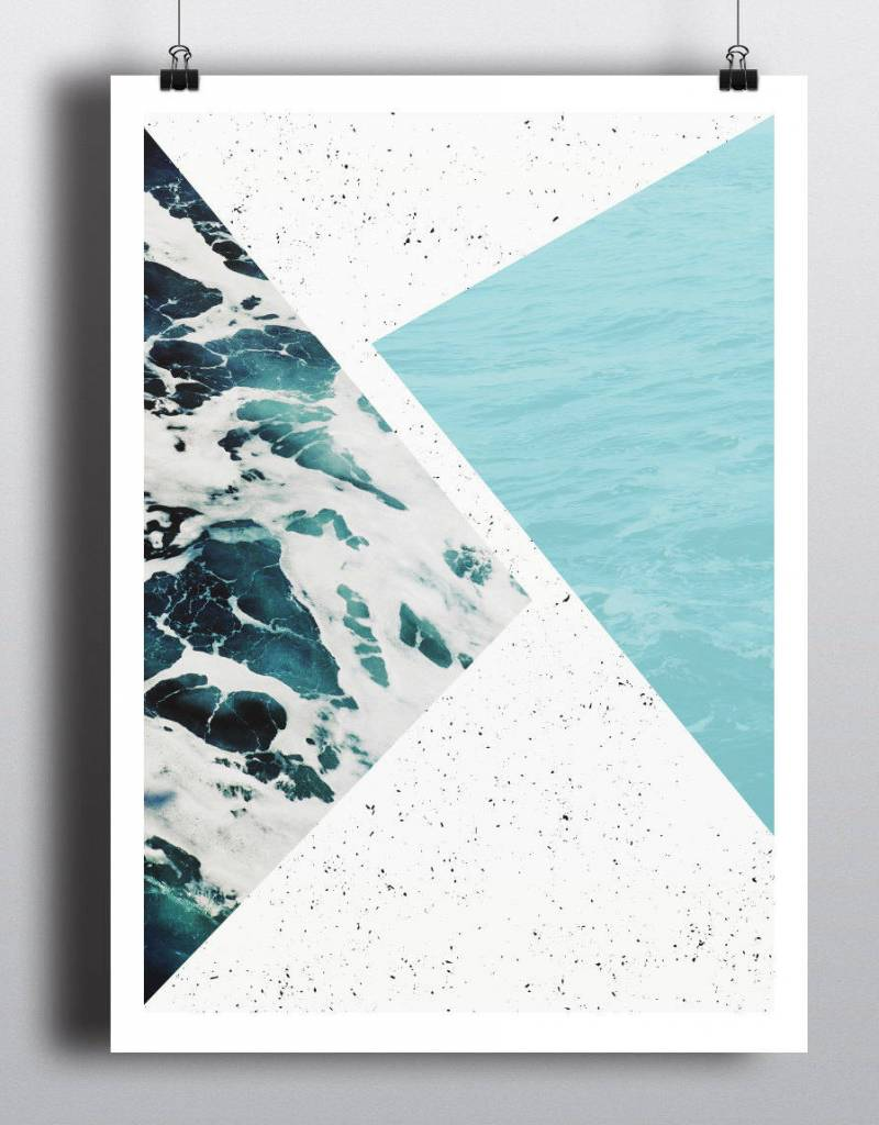 Toffie Toffie Abstract Ocean 18x24 Art Print