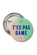 Merci Bonsoir par Marie-Claude Marquis Lapel Pin/Button