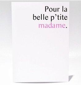 Masimto Greeting Card P'tite Madame