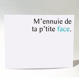 Masimto Ta P'tite Face Postcard