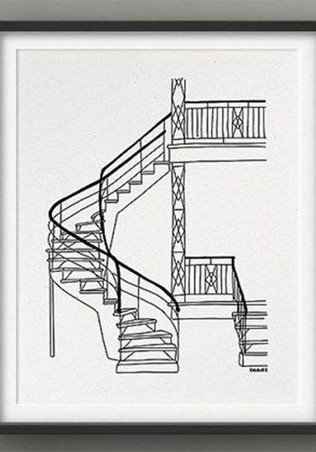 Affiche 8x10 Escaliers