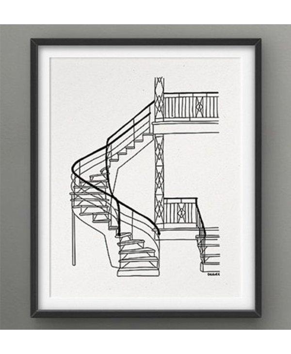 Darveelicious 8x10 Stairs Print