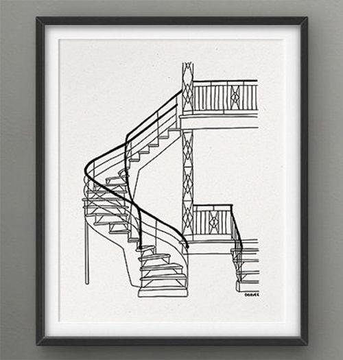 Darveelicious Darveelicious 8x10 Stairs Print