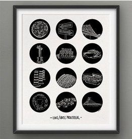 Darveelicious 5x7 Print - Love/Hate Mtl