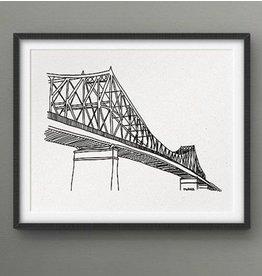 Darveelicious Affichette 5x7 Pont Jacques-Cartier
