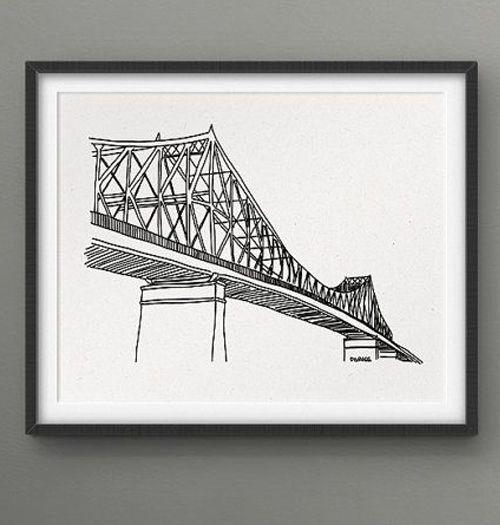 Darveelicious Darveelicious  8X10 Print - Jacques-Cartier Bridge