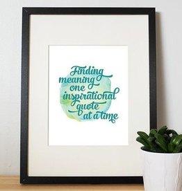 I'll know it when I see it Finding meaning Affiche  8x10