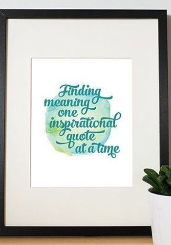 8x10 Finding Meaning Print