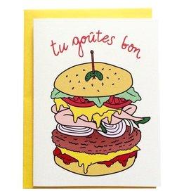 La façade Tu Goutes Bon Greeting Card
