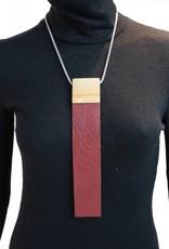 Louve Montreal Louve Montreal Collier Cravate Bourgogne