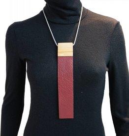Louve Montreal Collier Cravate Bourgogne