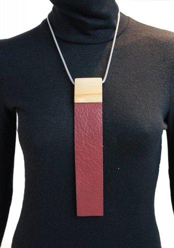 Burgundy Tie Necklace