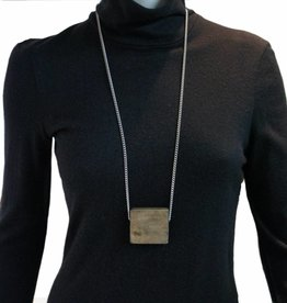 Louve Montreal Wood Square Necklace