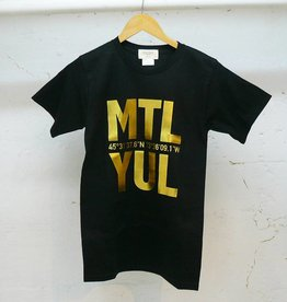 Bodybag YUL T-shirt - Black and Gold