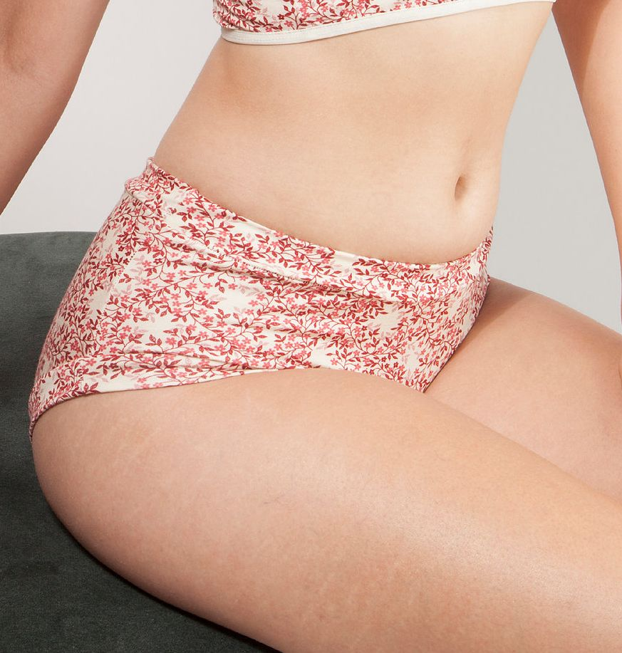Cameo Mid-Rise Undies - Pink Flowers