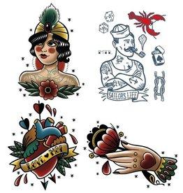 Les tatoués Temporary Tattoos - Small