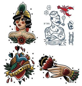 Les tatoués Temporary Tattoos - Small