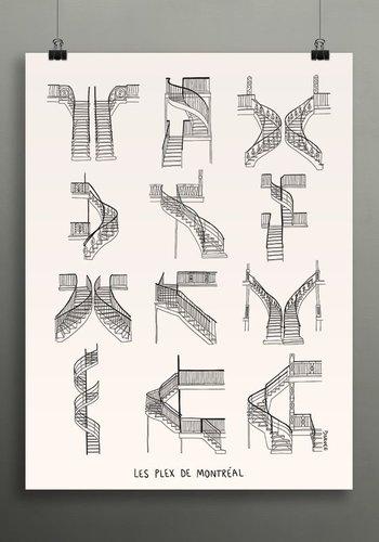 18 x 24 Plex de Montreal Print