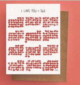 Darveelicious Carte I love you x 365