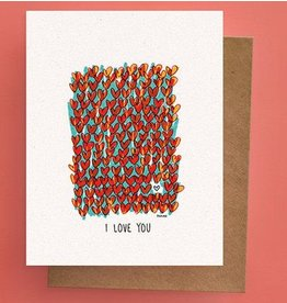Darveelicious Field of Hearts Greeting Card
