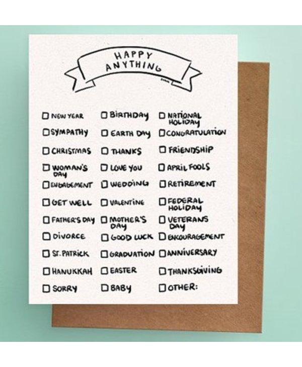 Darveelicious - Carte Happy Anything