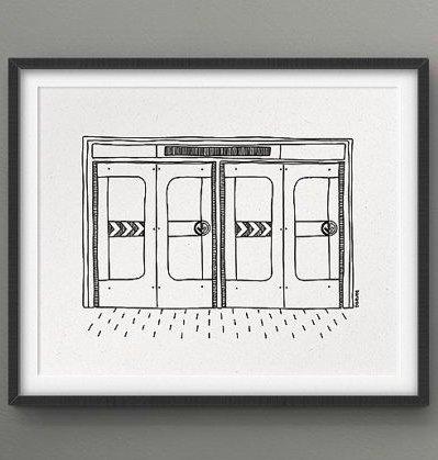 Darveelicious Darveelicious 5x7 Metro Art Print