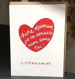 Darveelicious Rien Sans Toi Greeting Card