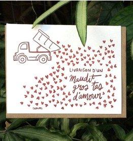 Darveelicious Gros tas Greeting Card