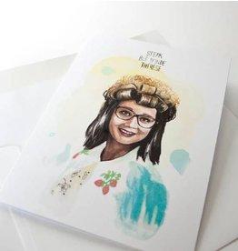 Merci Bonsoir par Marie-Claude Marquis Therese Greeting Card