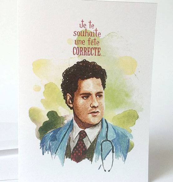 Merci Bonsoir par Marie-Claude Marquis 4 1/2 Greeting Card