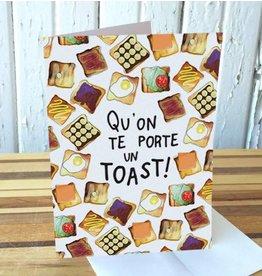 Merci Bonsoir par Marie-Claude Marquis Toast Greeting Card