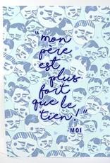 Merci Bonsoir par Marie-Claude Marquis Mon Père Greeting Card