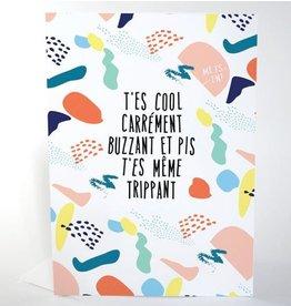 Merci Bonsoir par Marie-Claude Marquis T'es Cool Carte