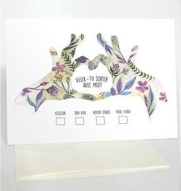 Merci Bonsoir par Marie-Claude Marquis Veux-tu Sortir Greeting Card