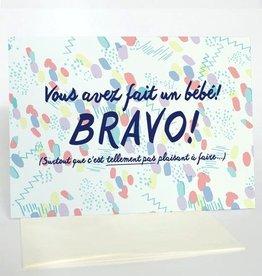 Merci Bonsoir par Marie-Claude Marquis Fait un Bebe Greeting Card
