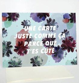 Merci Bonsoir par Marie-Claude Marquis Juste Parce Que Greeting Card