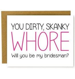 Hellafresh designs Whore Bridesman Carte