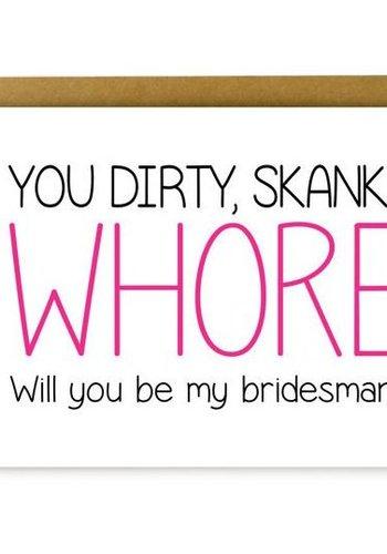 Whore Bridesman Greeting Card
