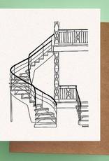 Darveelicious Darveelicious Escaliers Carte Postale