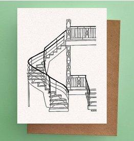 Darveelicious Stairs Postcard