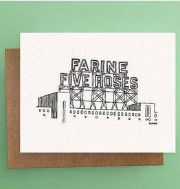 Darveelicious Farine Five Roses Carte Postale