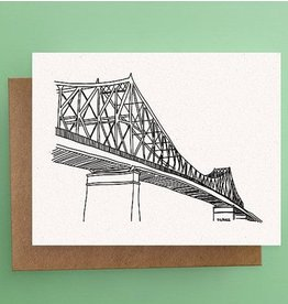 Darveelicious Jacques-Cartier Bridge Postcard