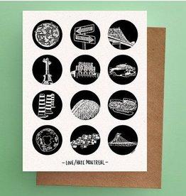 Darveelicious Carte Postale 12 amour/haine MTL