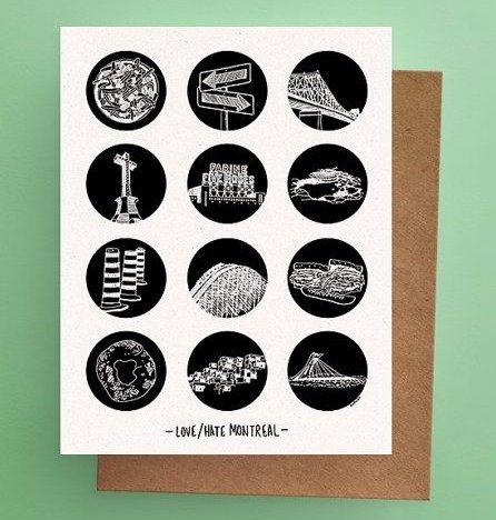 Darveelicious Darveelicious Postcard 12 Love/Hate MTL