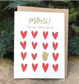 Darveelicious Coeur en Or Greeting Card
