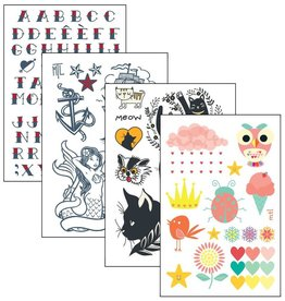 Les tatoués Temporary Tattoos - Large